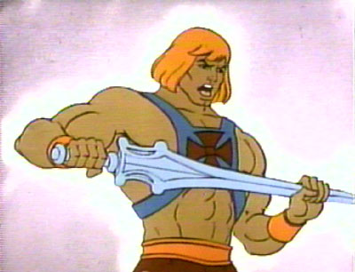 He can sing and dance like a he-man.