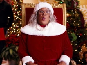 "Tyler Perry, master scammer in ""A Madea Christmas."""