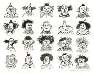 20 Clowns by Marieke McClendon