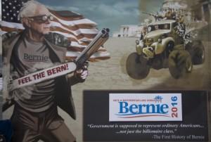 Artist Mario Prado creates a poster for a recent Comic con